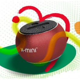 X-mini ™ CLICK 2 RED přenosný reproduktor s foto tlačítkem, Made for Selfies a True Wireless Stereo