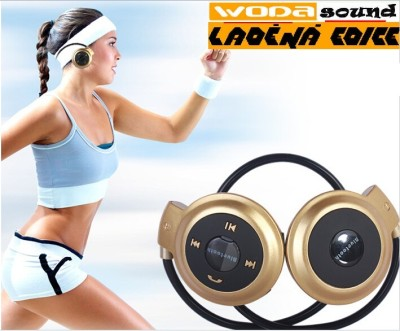 Wodasound® Sports mini 503 Bluetooth stereo sluchátka s mikrofonem, MP3 a FM rádio, micro SD slot